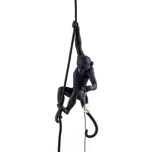 Opica - visiaca zo stropu na lane - čierna