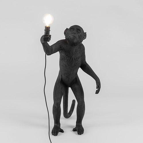 Opica - v stoji - čierna