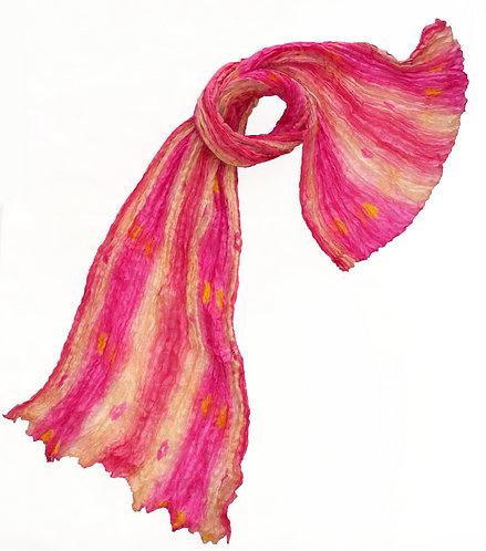 Krčený hodvábny šál