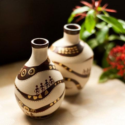 Sada váz terakota