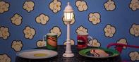 street lamp dining