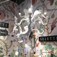 monkey chandelier