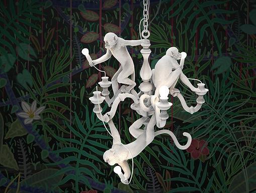 MONKEY-CHANDELIER-Seletti, eclectic lamps, svietidla