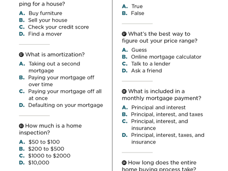 Quiz: What Do You Know About Buying A Home