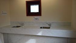 Indoor washing up sinks