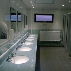 Recently refurbished toilets