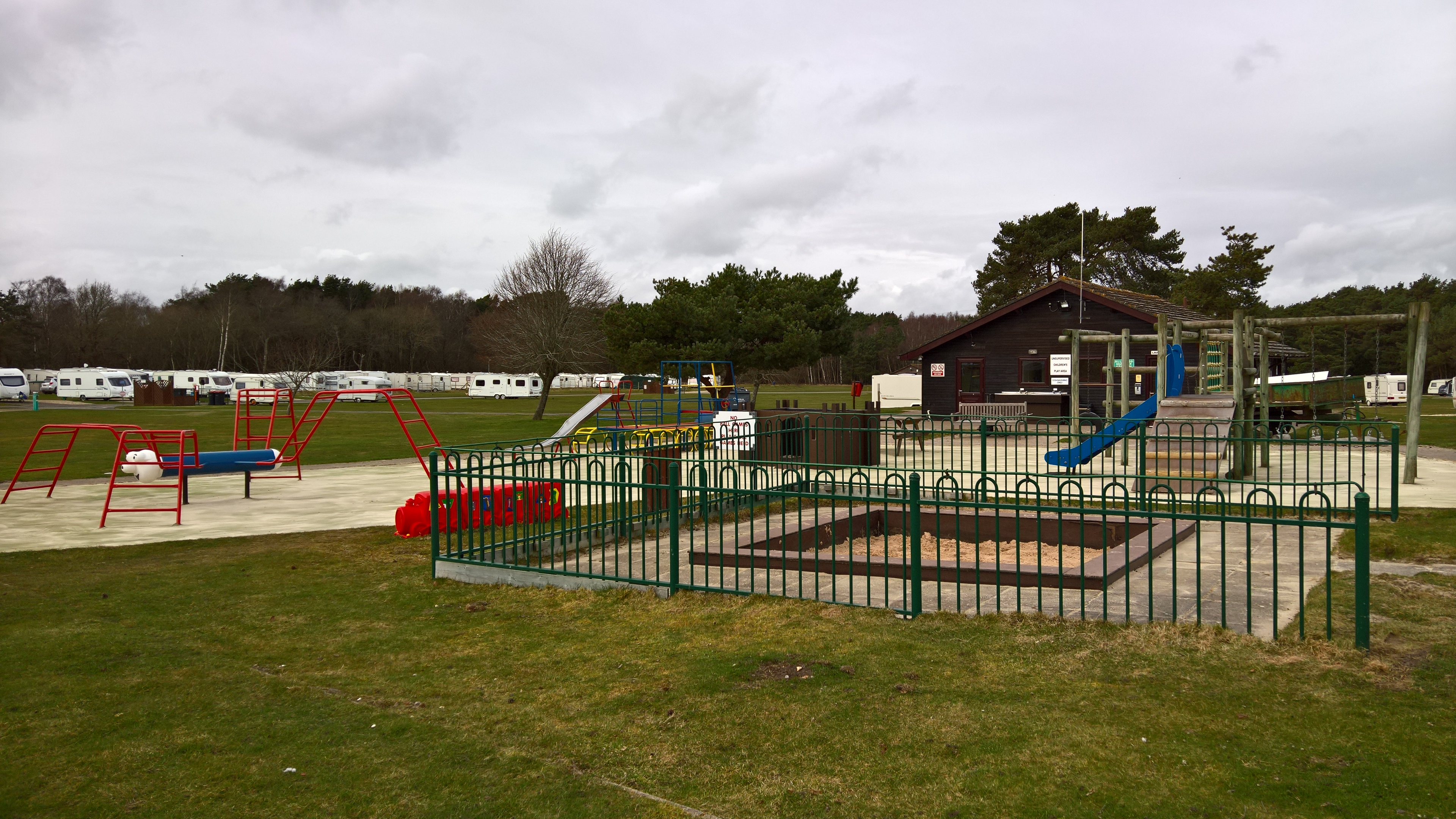 The play area and sandpit
