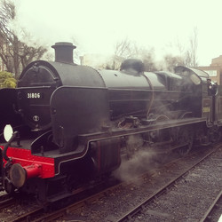 Steam train at Swanage Station
