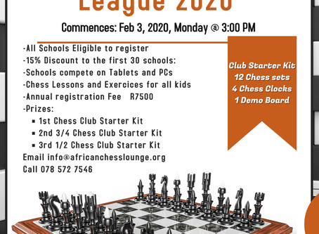 2020 Online Chess League for schools