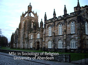 MSc Religion and Society University of Aberdeen