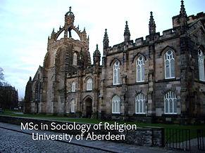 MSc Religion and Society University of Aberdeen