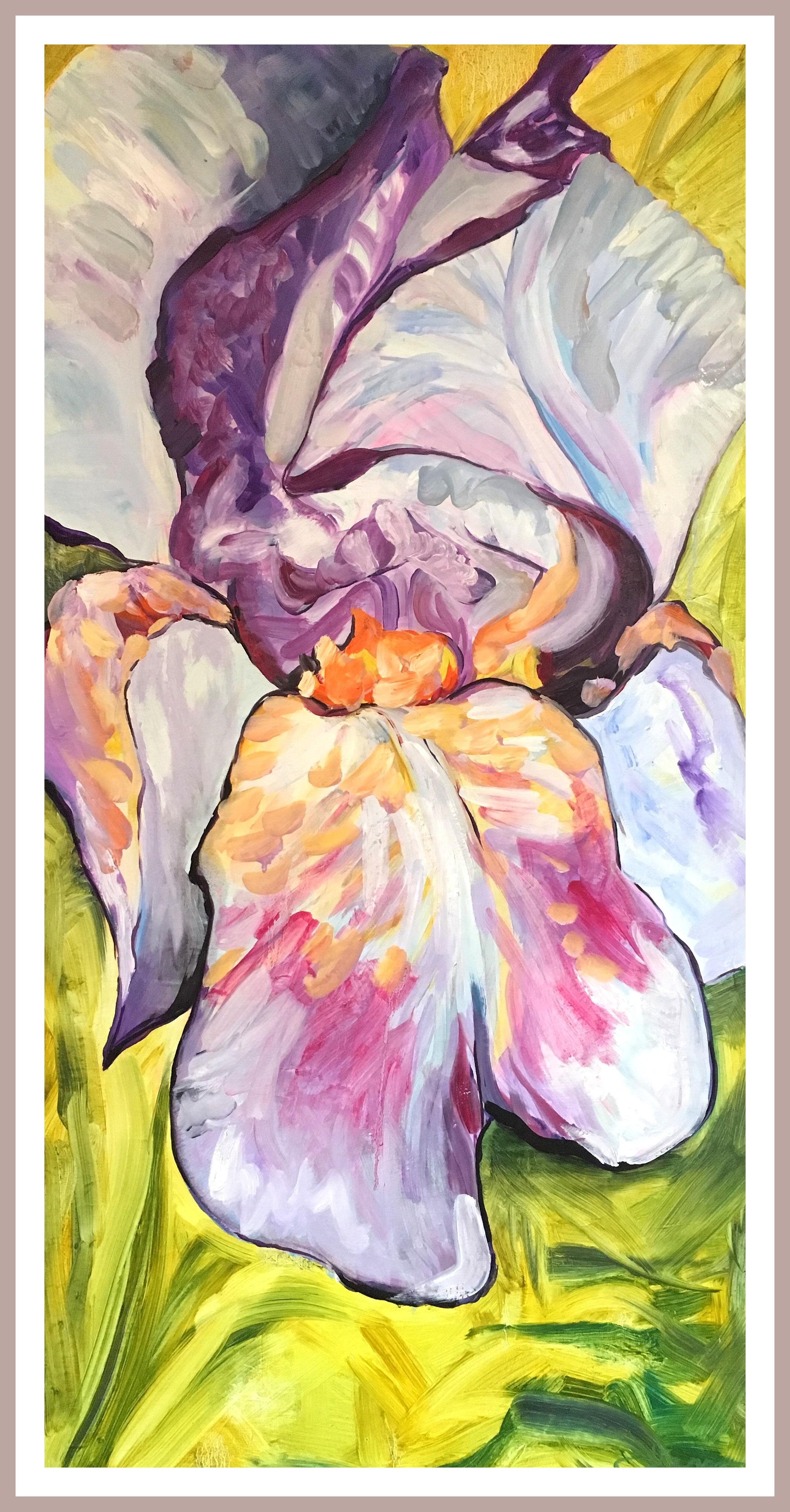 Purple Orange Iris
