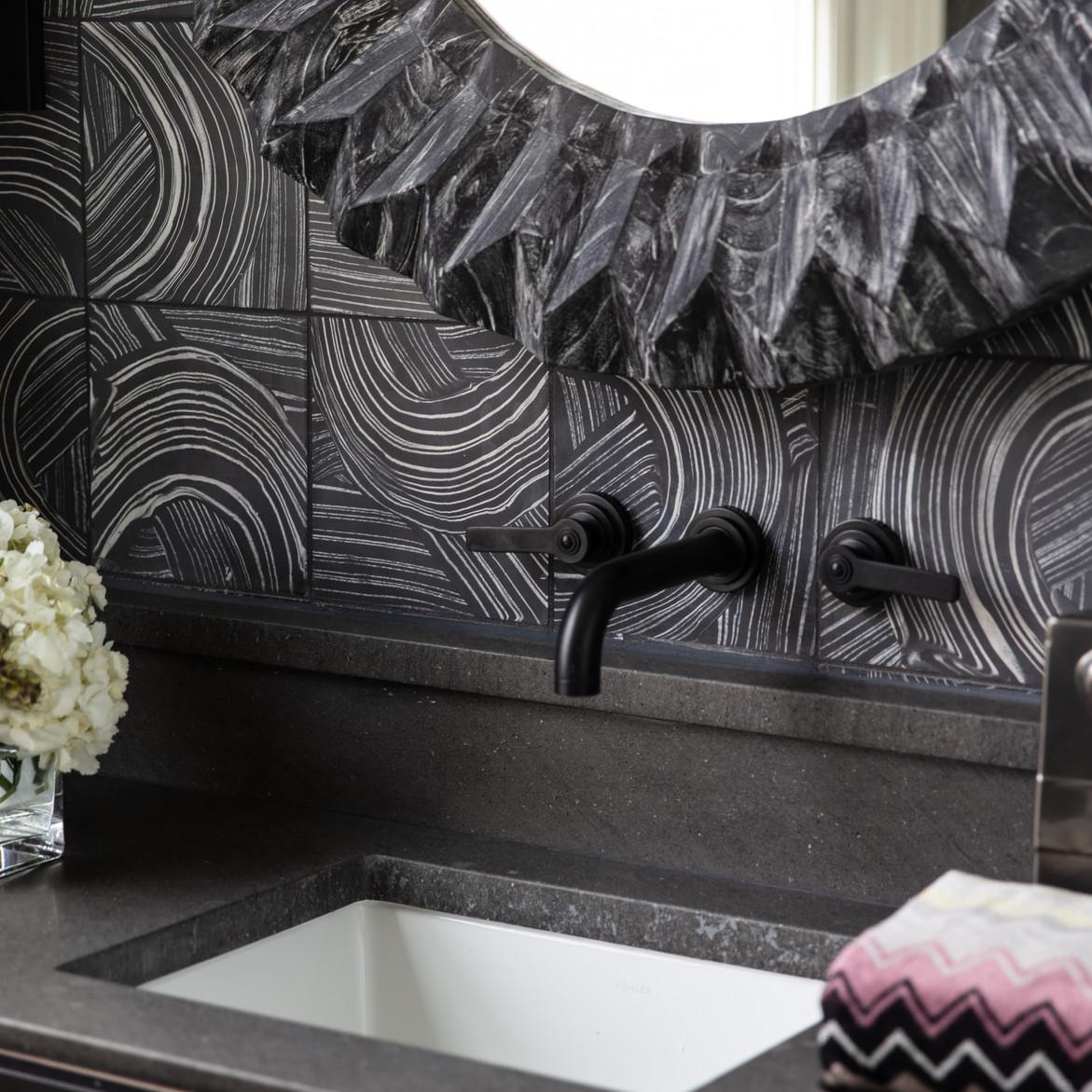 Dark and Dramtic Bathroom