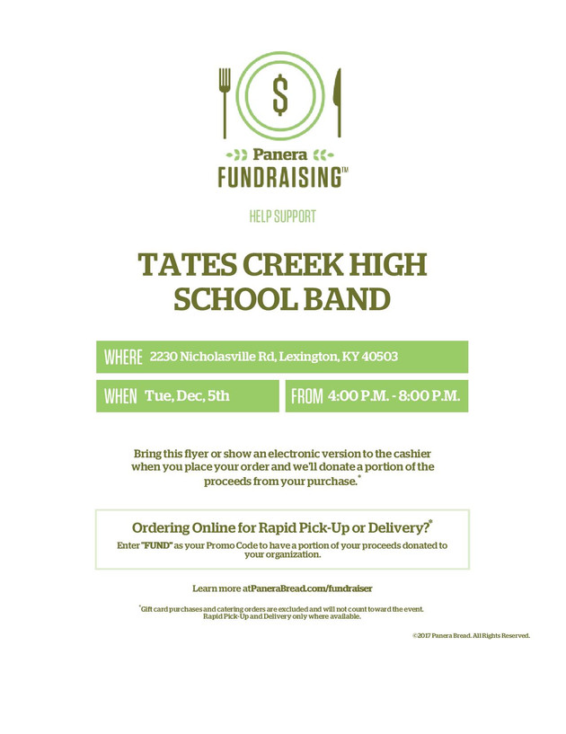 Fundraiser Night - December 5th