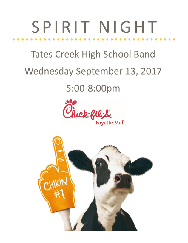 Chick-Fil-A Spirit Night - 9/13/17