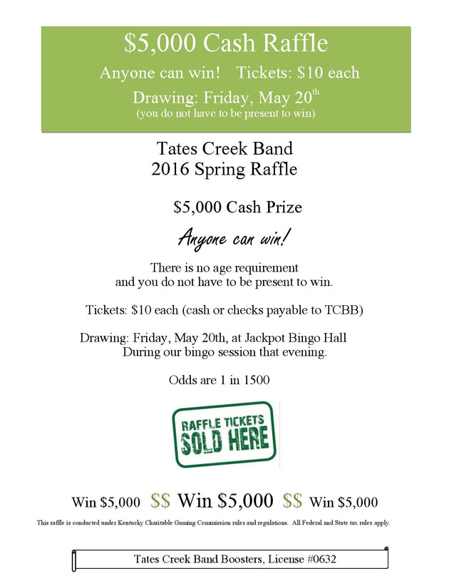 Band Raffle Information