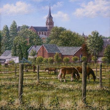 Hoeve Vaessen met blik op H. Jozef en paarden