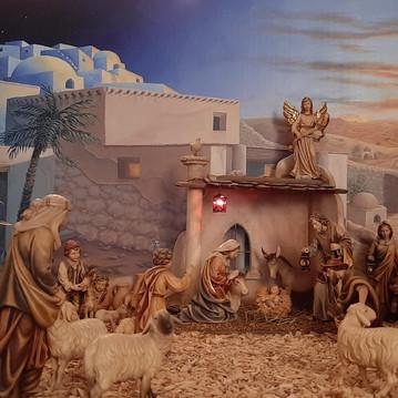 Achterwand voor een kerststal