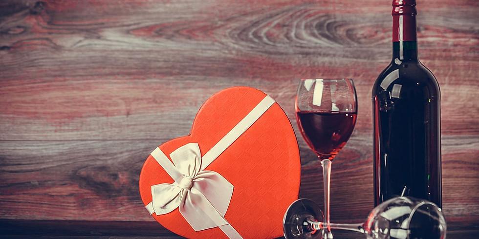 Valentine's Day Dessert Charcuterie and Wine