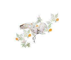 Crane (watercolour) 2015