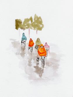 E-bikes in the rain - Bryony Pimble