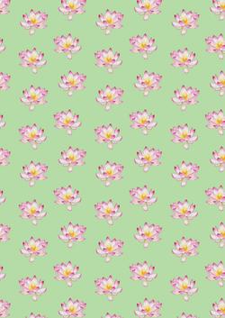 lotus flowers floral green repeat