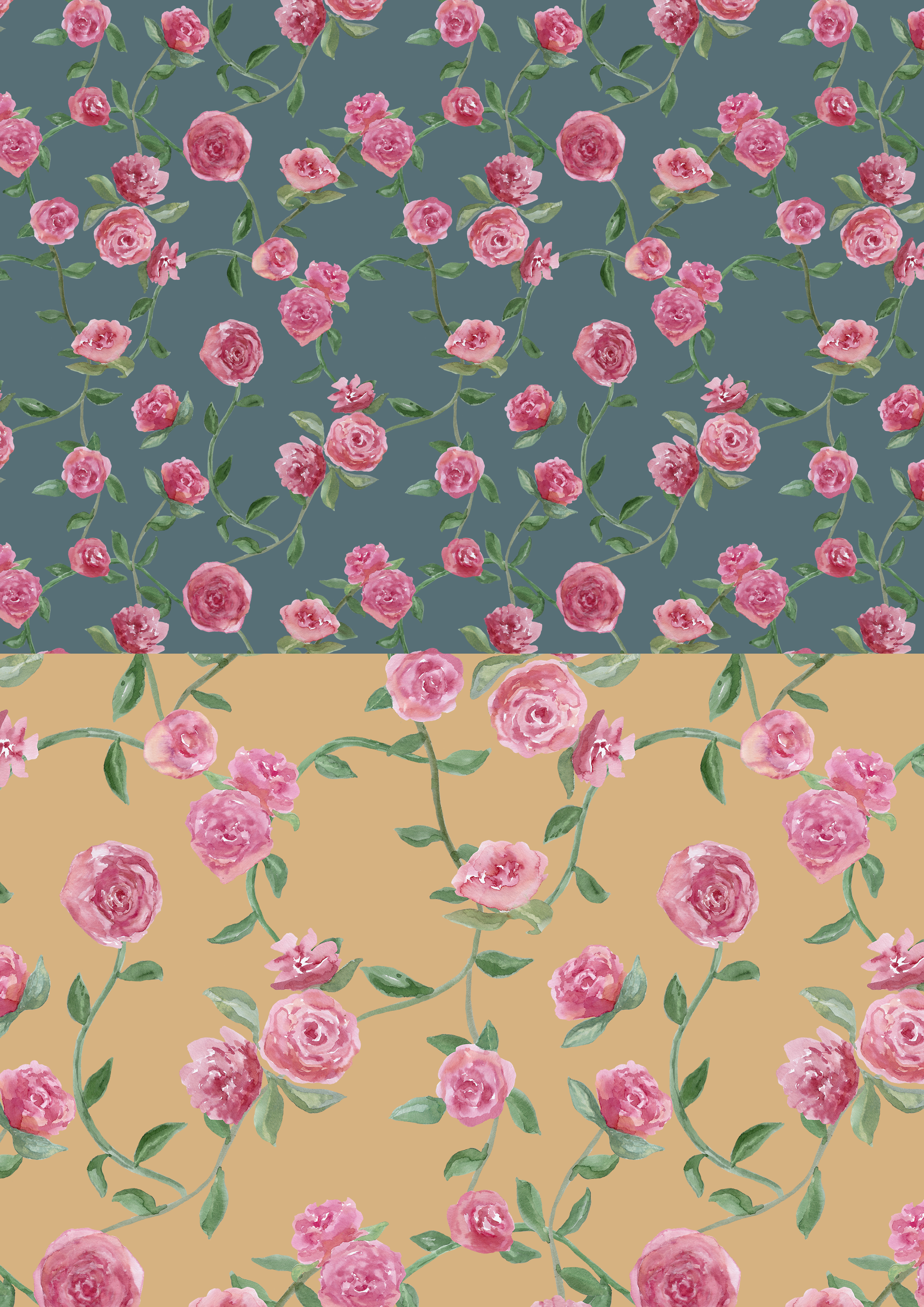 roses 2 colourways layout sheet