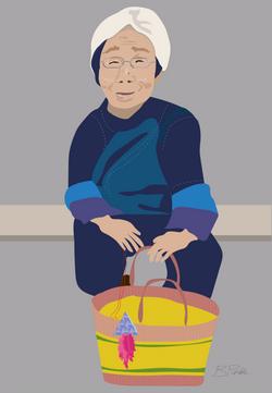 Elderly Naxi Lady