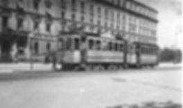 A2-Tw 269 + c-Bw in der Ludwigstraße einwärts 1911 München tram