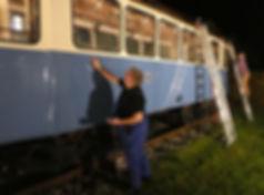 Die Werkstattgruppe unterhält und restauriert und erhält die historischen Wagen tram münchen