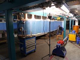 Bahnhofswagen G1.8 Nr. 2970, 2970er, der zur Zeit von unserer Werkstattgruppe restauriert wird münchen Tram