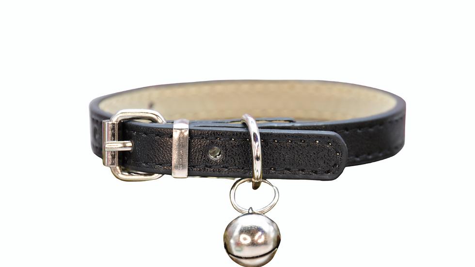 Cat Collar: Black Vegan Leather
