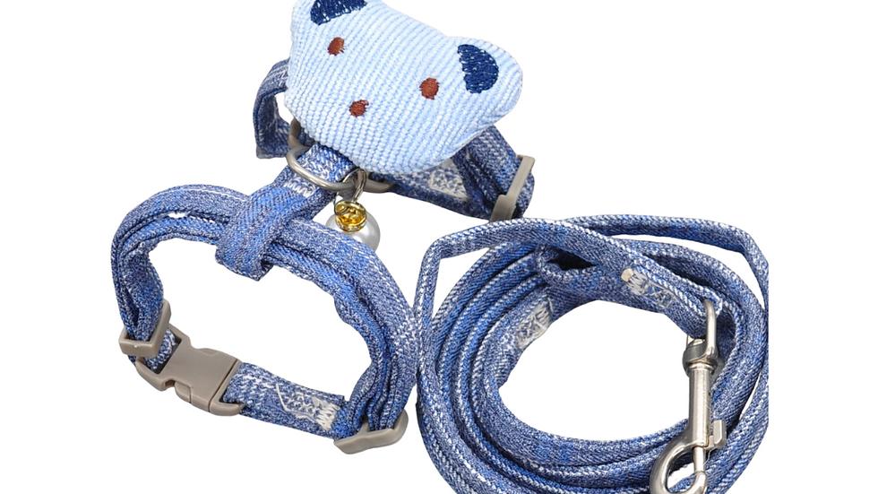 Cat Harness: Blue Plaid