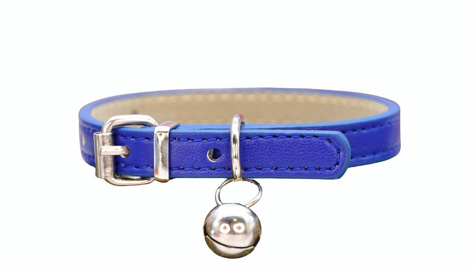 Cat Collar: Midnight Blue Vegan Leather