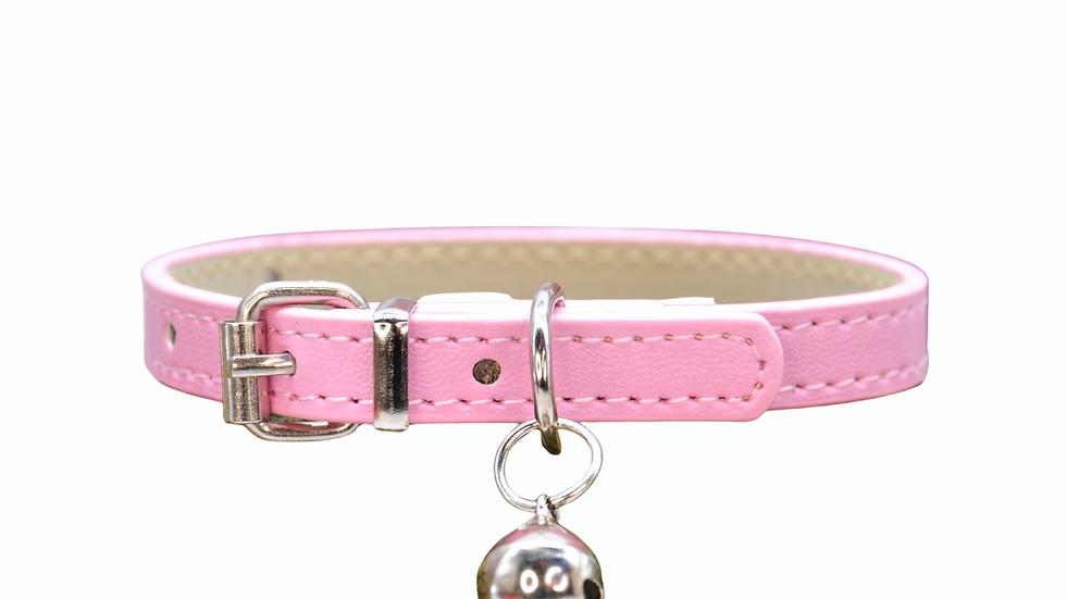 Cat Collar: Light Pink Vegan Leather
