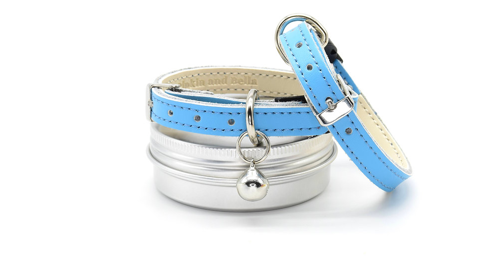 Blue Real Leather Collars
