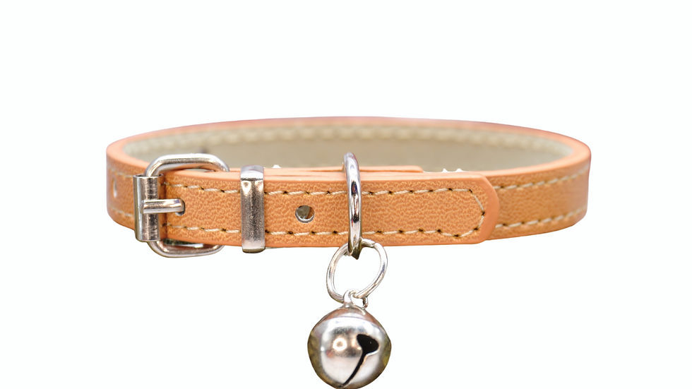 Cat Collar: Fawn Vegan Leather