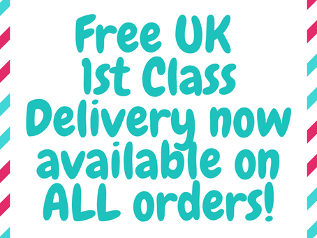 Free 1st Class UK Delivery