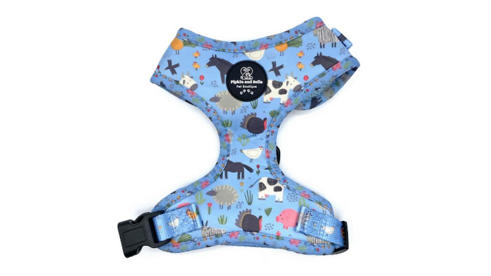 Adjustable Dog Harness: Farmyard Fairytale
