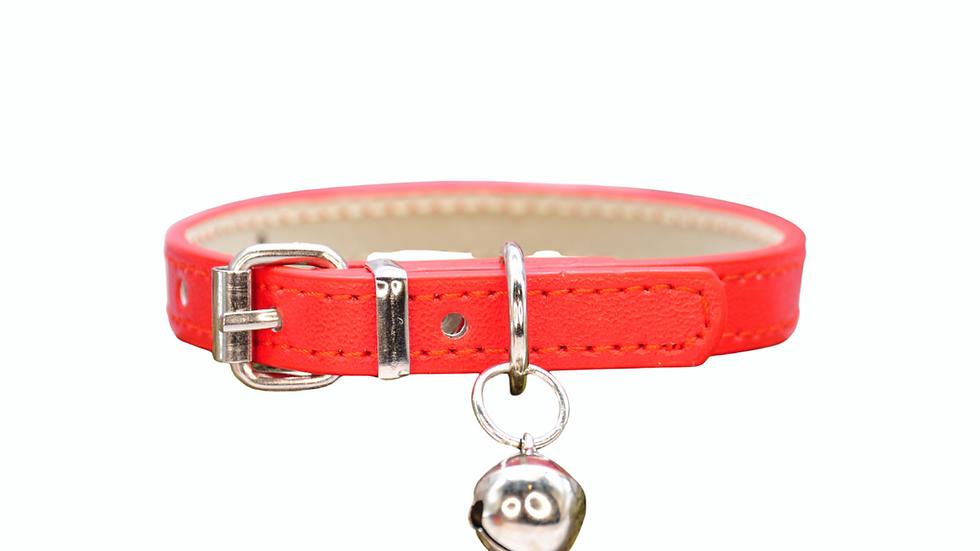 Cat Collar: Red Vegan Leather