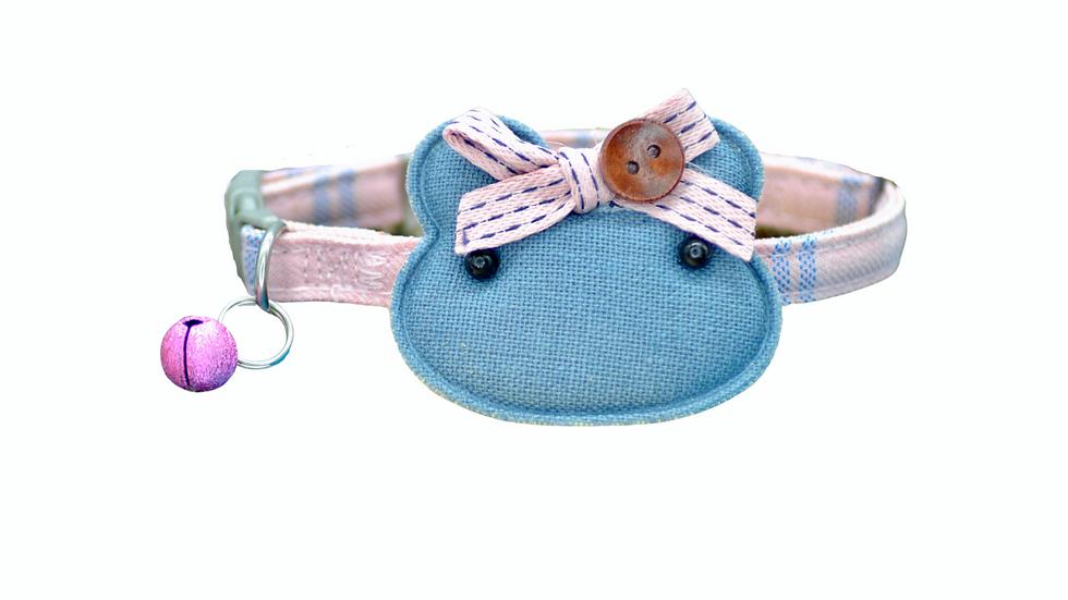 Cat Collar: Pink & Blue Plaid