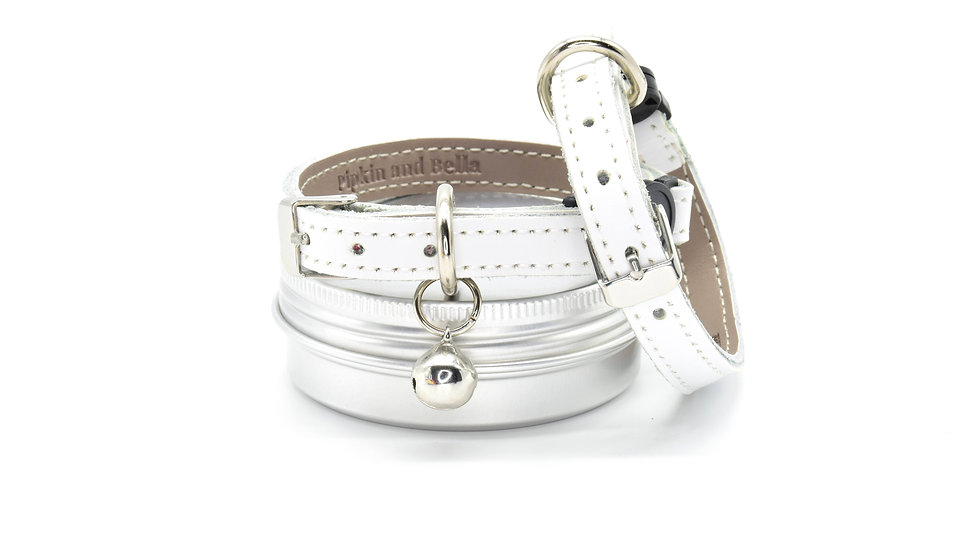 Ice White Real Leather Collars