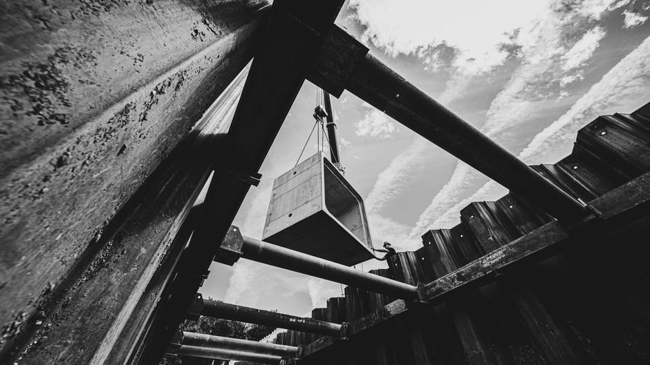 Baureportage / Neubau Durchlassbauwerk Breisach