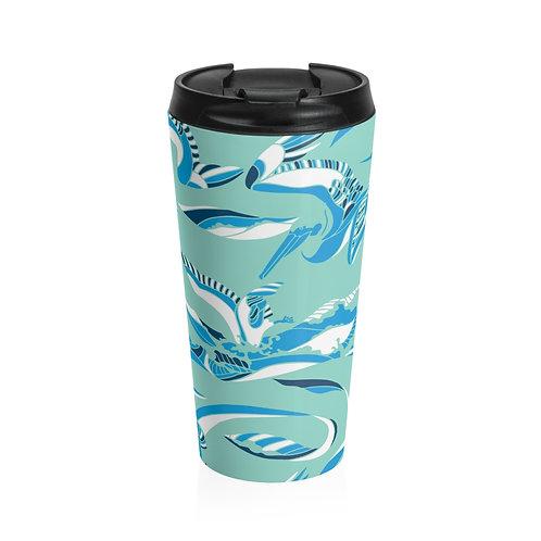 Pelican Wave Stainless Steel Travel Mug - Color: Kamakura