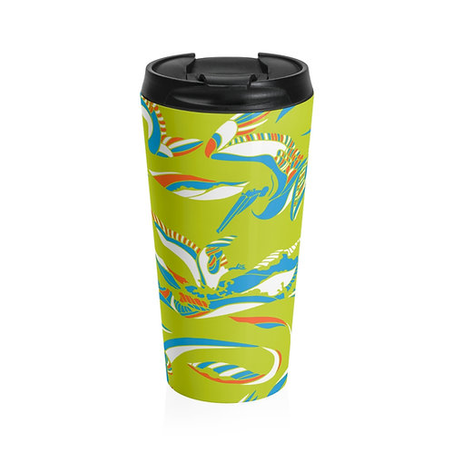 Pelican Wave Stainless Steel Travel Mug - Color: Cape May
