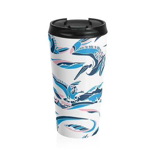 Pelican Wave Stainless Steel Travel Mug - Color: California