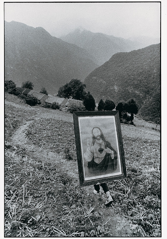 Teenager Carrying Holy Image, Shaanxi | Lv Nan | 1992