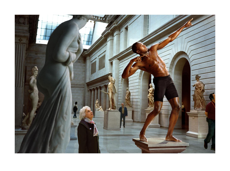 尤塞恩·博尔特在大都会艺术博物馆 | 来自系列作品《肖像》| 马丁·舍勒 |  2009