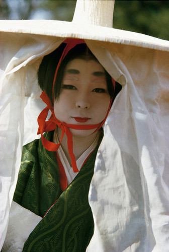 Woman in Heian Period costume, Festival of the Ages, Kyoto, Japan | Brian Brake | 1963