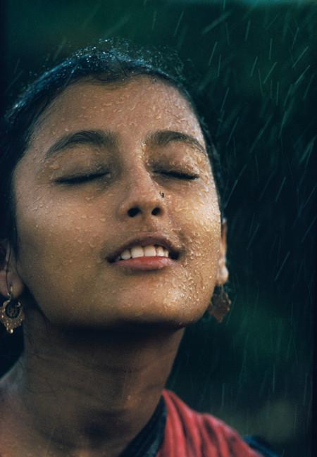 """Monsoon girl"" (Aparna Das Gupta), India | From the series Monsoon | Brian Brake | 1960"